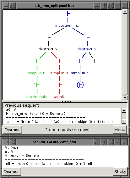 Proof tree visualization for Proof General